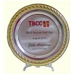 Silver Salver with Gold Edge - Full Colour
