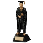 Resin Male Graduate Figure Trophies