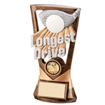 Resin Longest Drive Golf Trophy