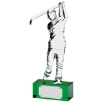 Crystal Golfer Handcrafted Trophies
