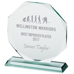 Engraved Jade Crystal Recognition Award