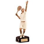 Resin Tennis Male Figure Trophies