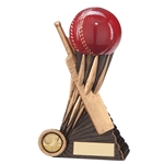 Resin Atomic Cricket Ball and Bat Trophies