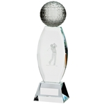 Crystal Optical Golf Ball Infinity Trophies