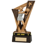 Resin Victory Netball Figure Trophies