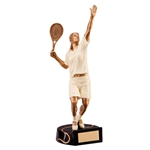 Resin Tennis Female Figure Trophies