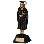 Resin Female Graduate Figure Trophies