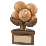 Resin Playful Flower Achievement Trophies