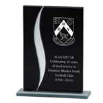 Engraved Black Spirit Glass Plaques