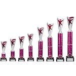 Silver/Pink Modern Dance Trophies