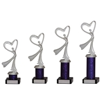 Silver and Blue Modern Dance Trophies