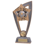 Star Blast Man of the Match Football Trophies