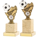 Antique Gold Football Boot and Ball Column Trophies