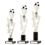 Large Silver/Black Football Ball Trophies