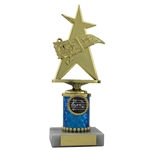 Gold Music Star Trophies