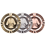 Moulded Martial Arts Medals with Ribbons