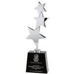 Silver Stars Corporate Crystal Trophies