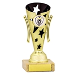 Gold and Black Star Cups