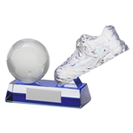 Crystal Legacy Football Boot and Ball Trophies