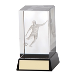 3D Cube Football Figure/Player Trophies