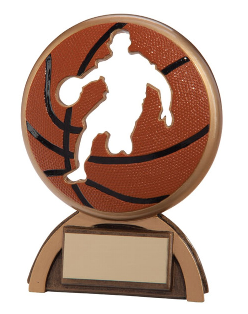 Resin Basketball Shadow Trophies