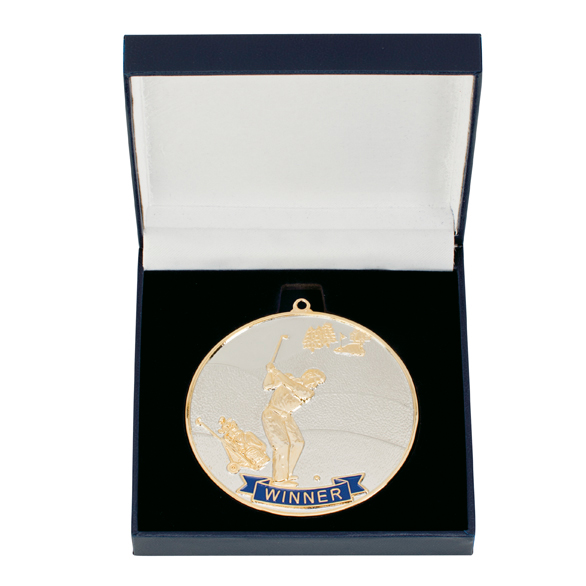 Golf Winner Medal & Box