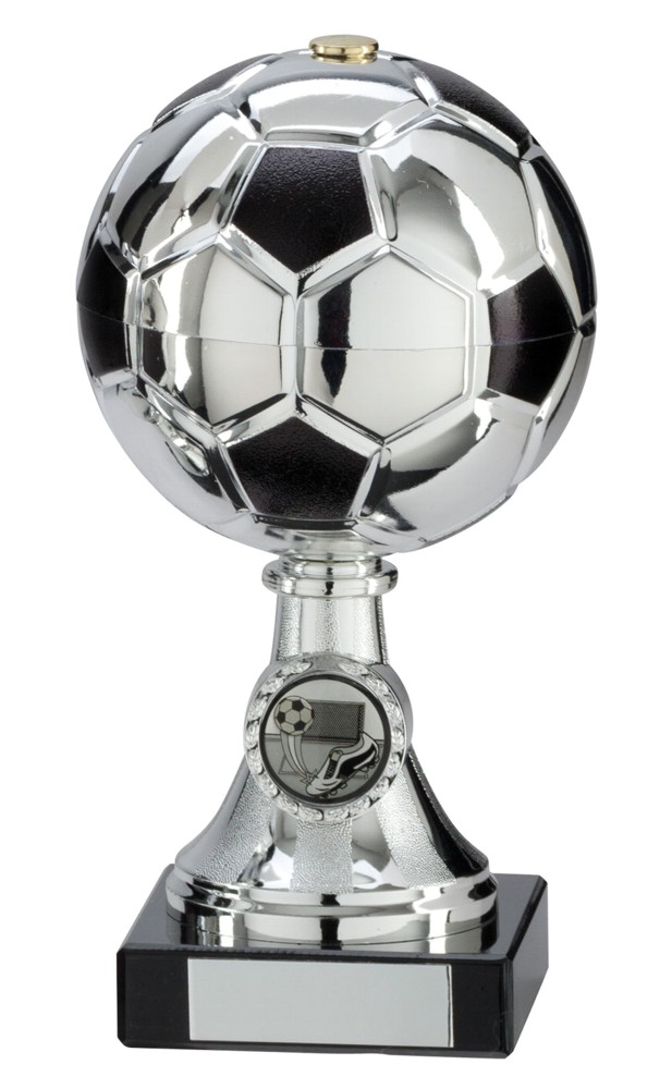 Silver and Black Milano Metal Football Cups