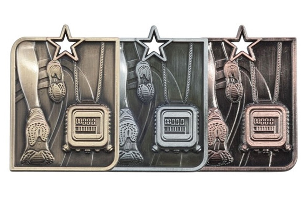 Heavy Metal Centurion Running Medal and Ribbon