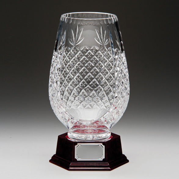 Lindisfarne Crystal Vase and Base