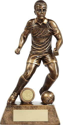 Resin Male Football Figure Trophies