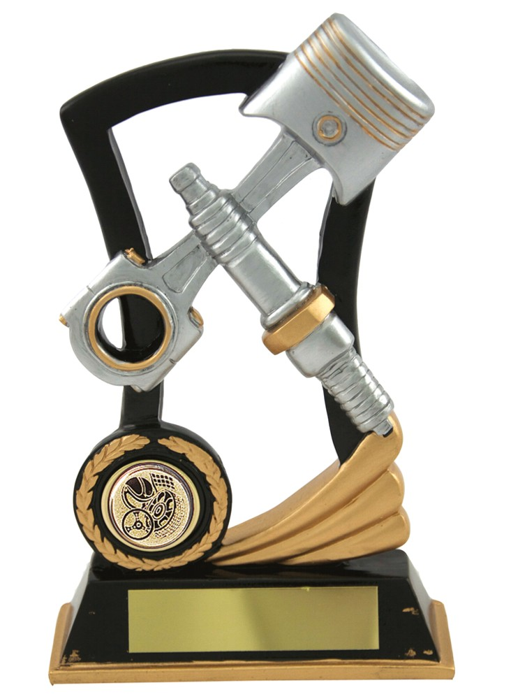 Resin Spark Plug & Piston Trophies