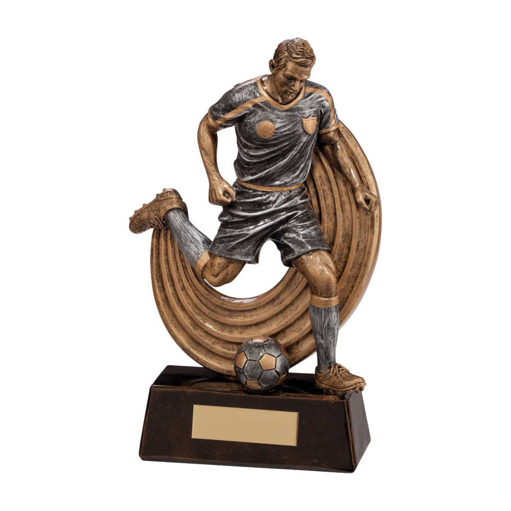 Resin Raider Striker Football Player Trophies