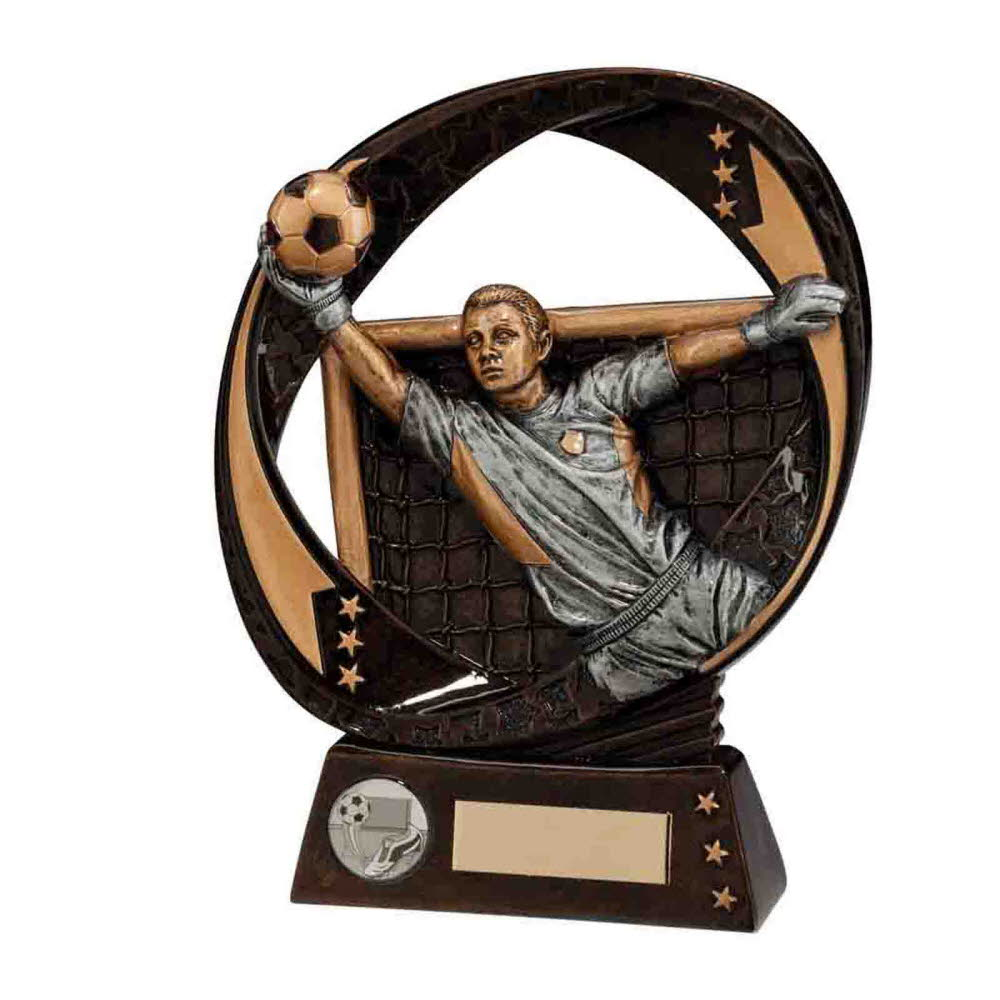 Typhoon Resin Football Goalkeeper Trophies