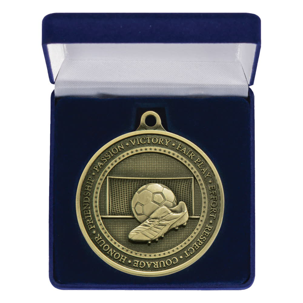 70mm Heavy Football Medal Boxed