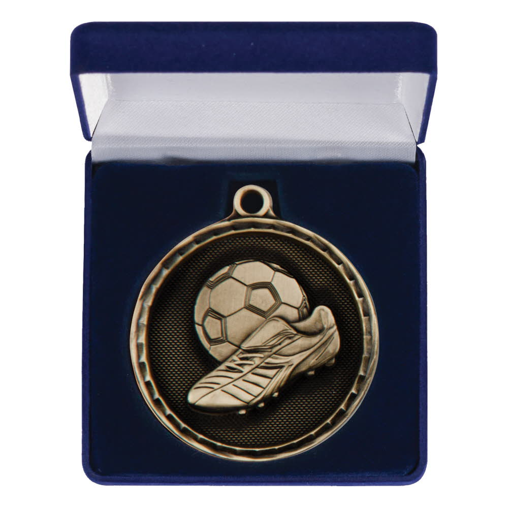50mm Heavy Football Medals Boxed