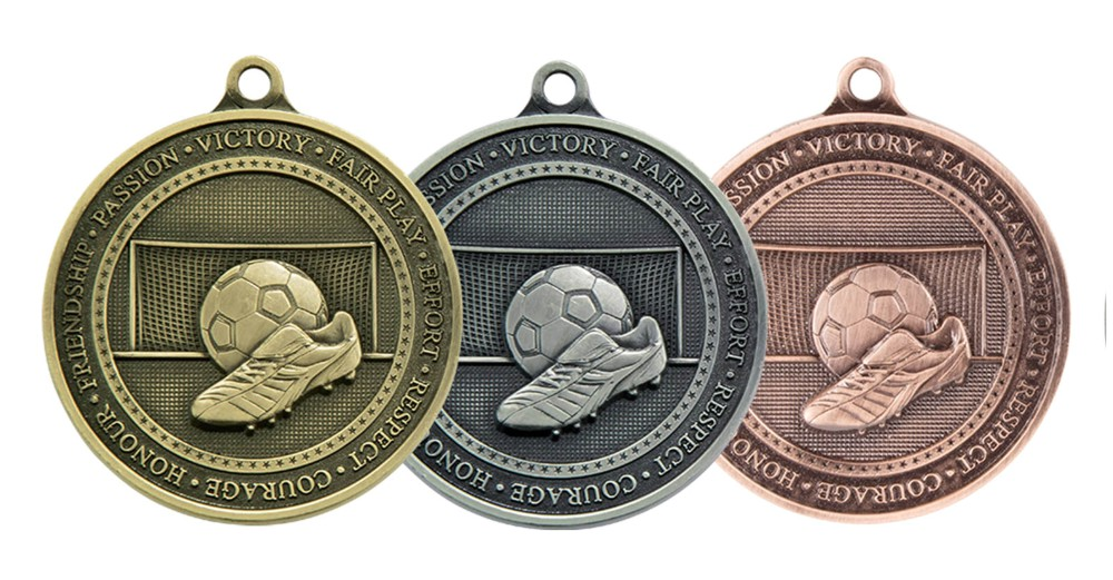 70mm Heavy Football Medals and Ribbon