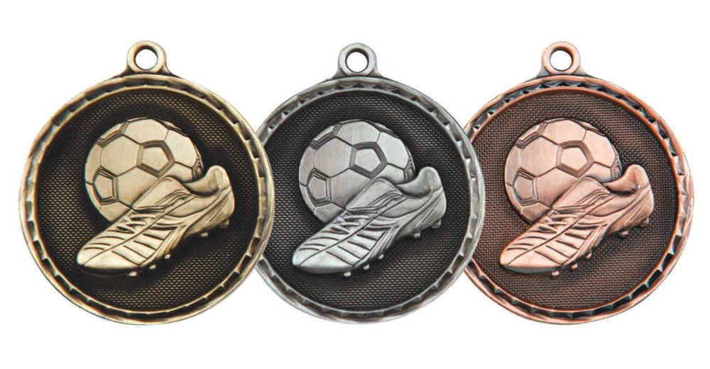 50mm Heavy Football Medal and Ribbon