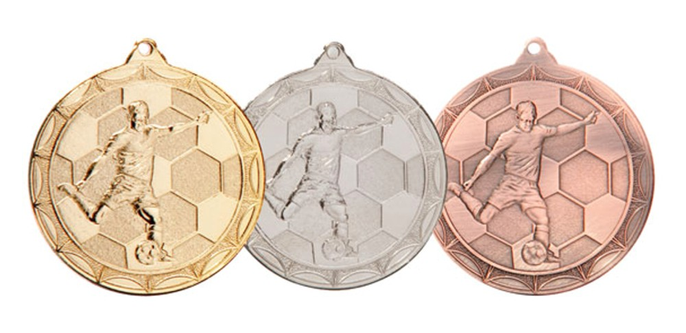 Moulded Football Boot Medal and Ribbon