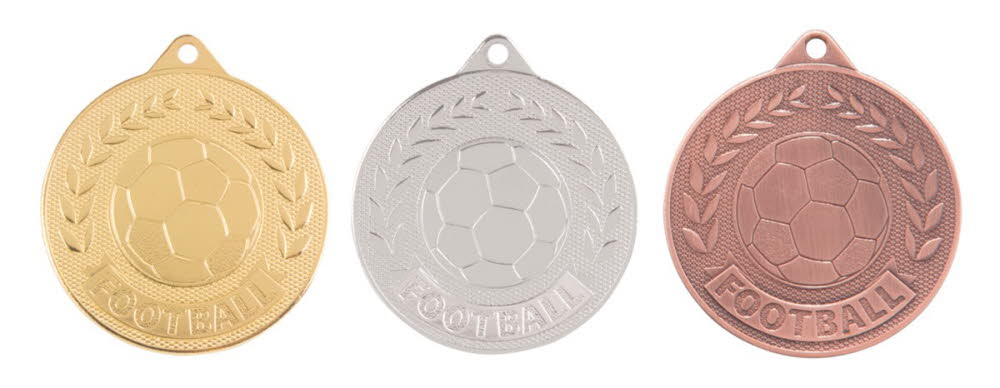 Moulded Football Medal and Ribbon