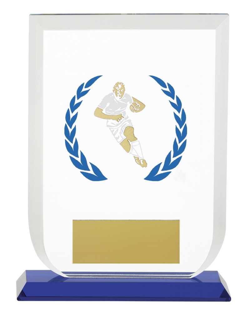 Gladiator Rugby Premium Glass Plaques