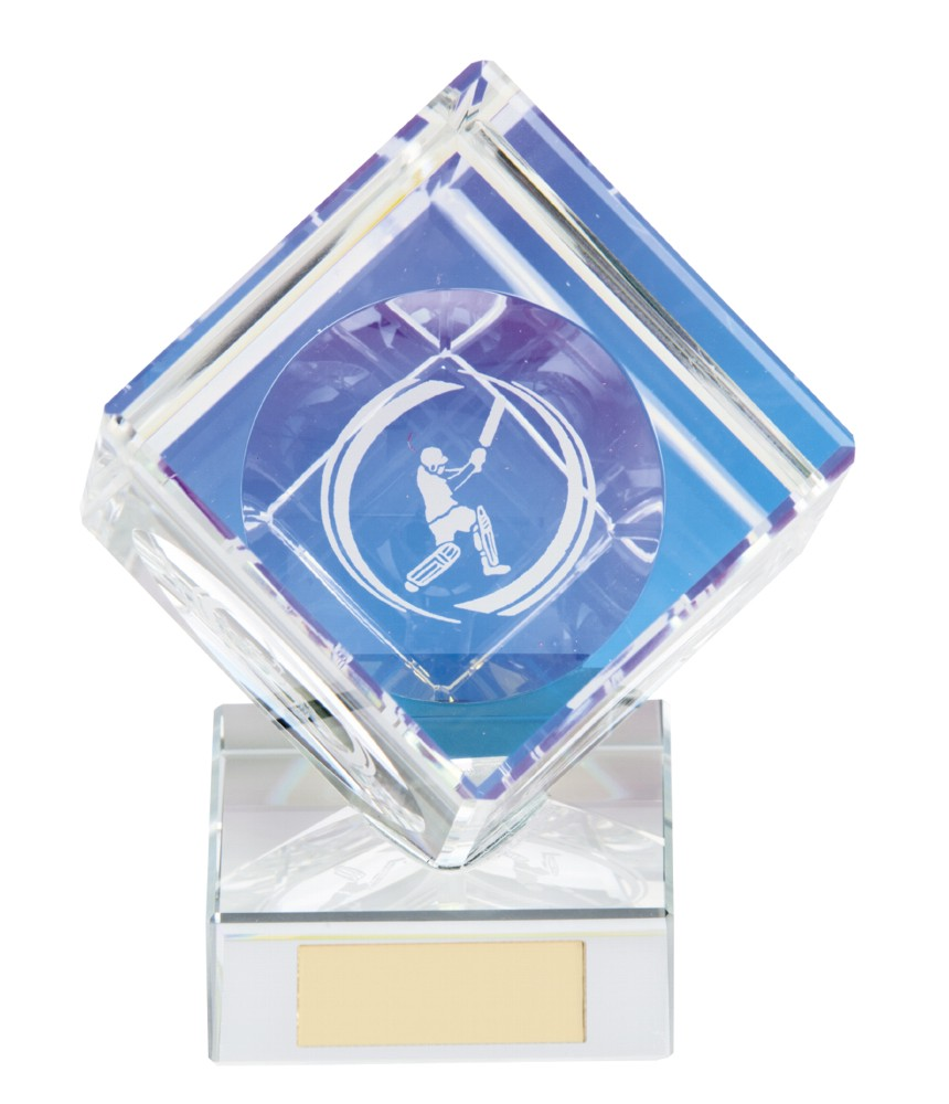 Victorious Crystal Cricket Cube Trophies