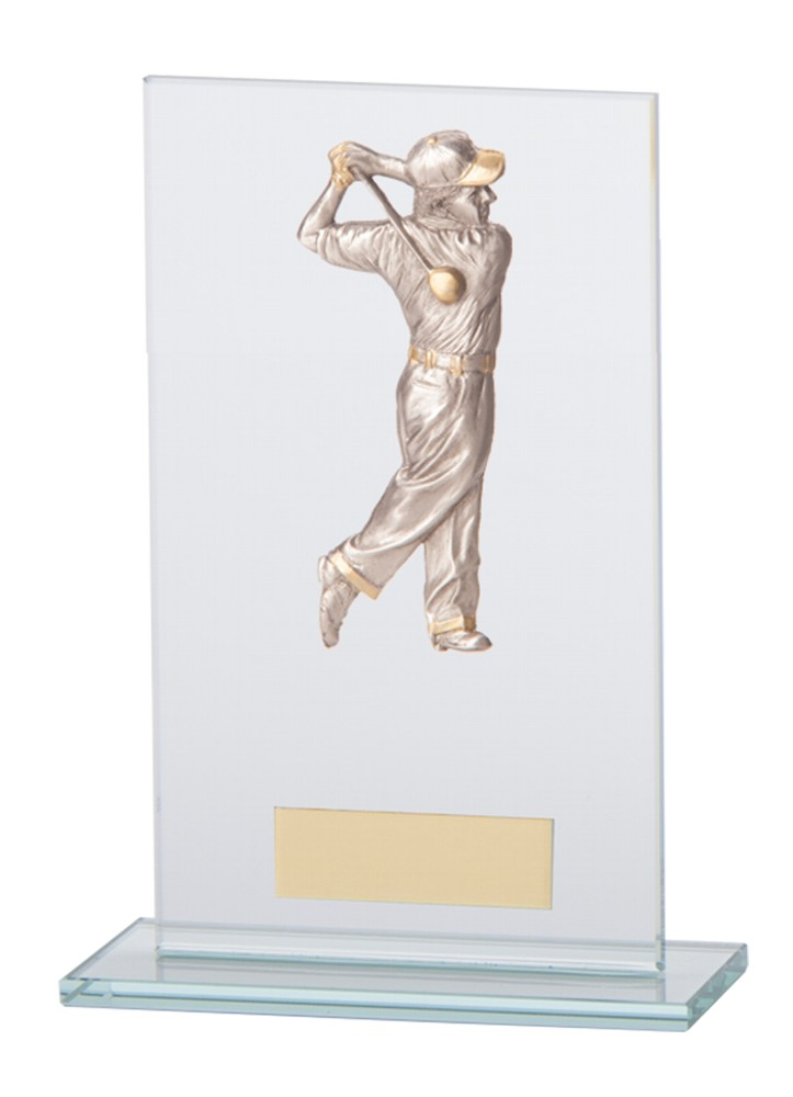 Golf Figure Waterford Glass Plaques