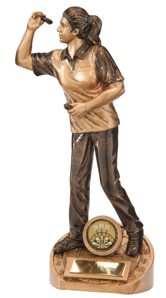 Bullseye Female Darts Figure Trophies