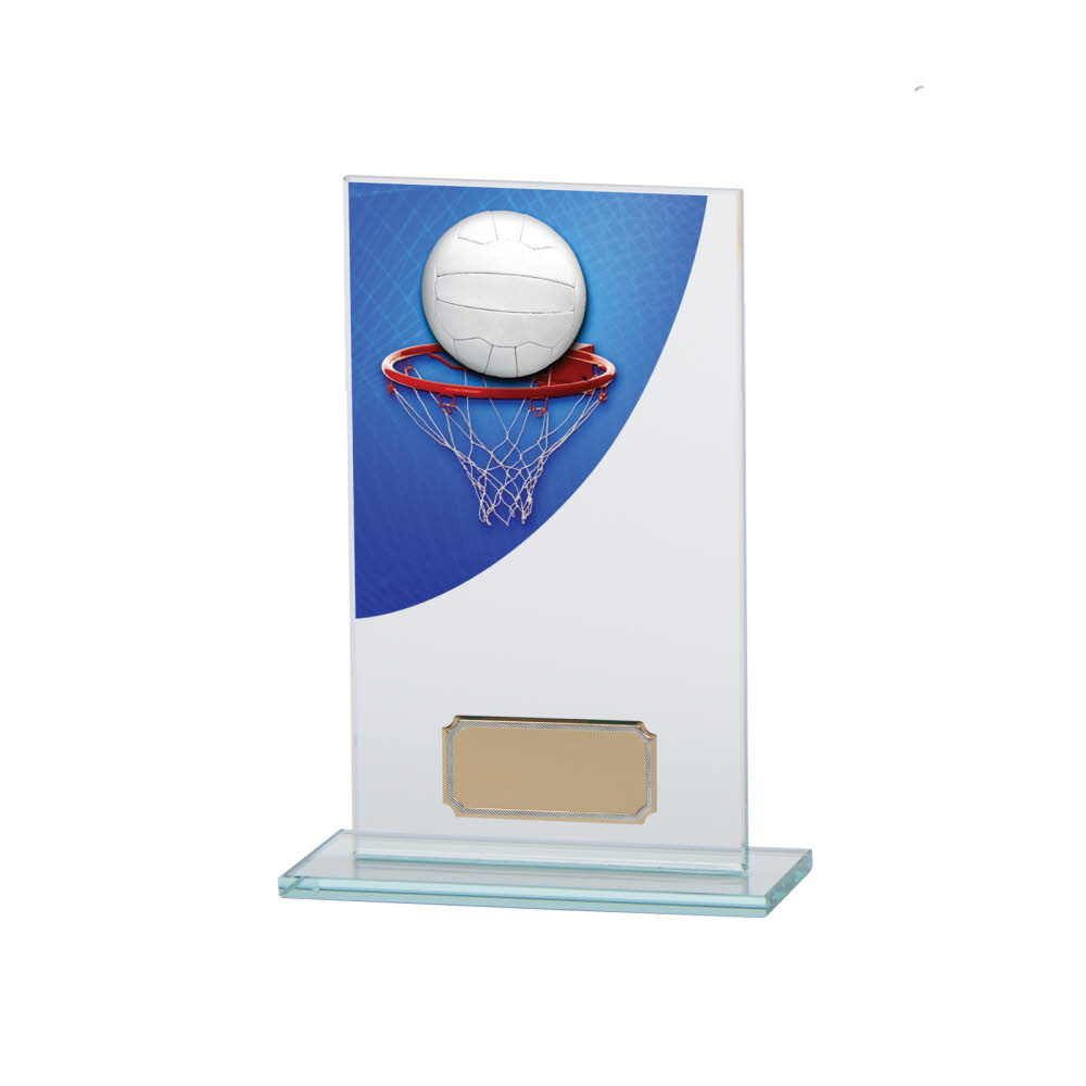 Netball Premium Glass Plaques