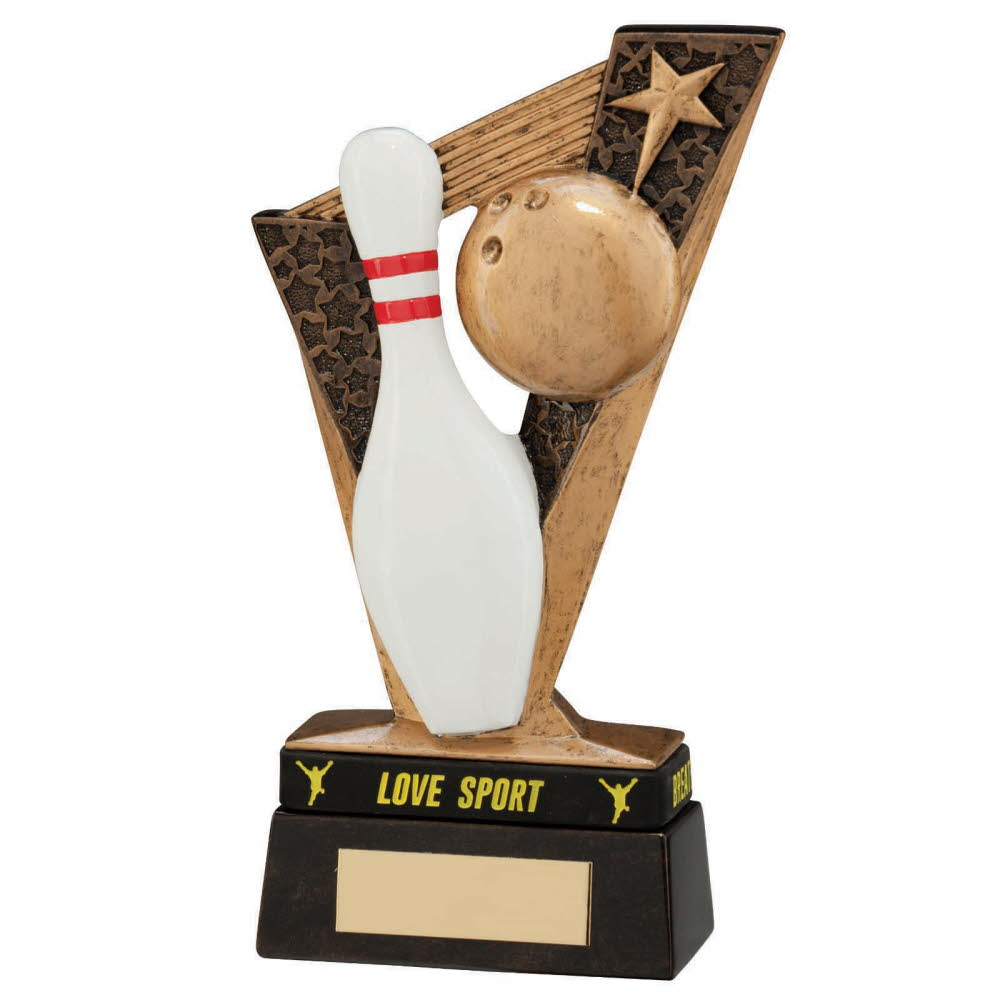 Resin Victory Ten Pin Bowling Trophies