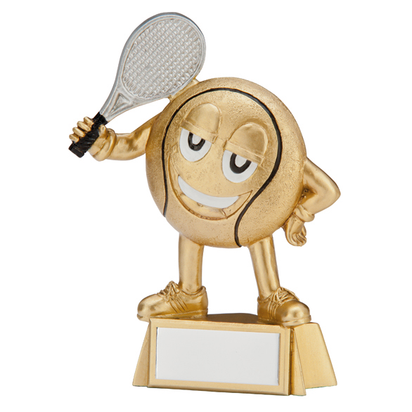 Happy Little Tennis Ball Trophies