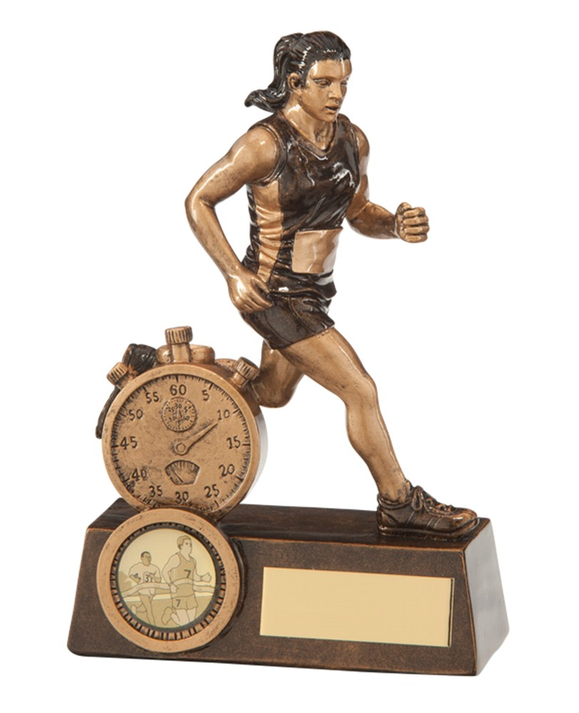 Resin Female Running Trophies