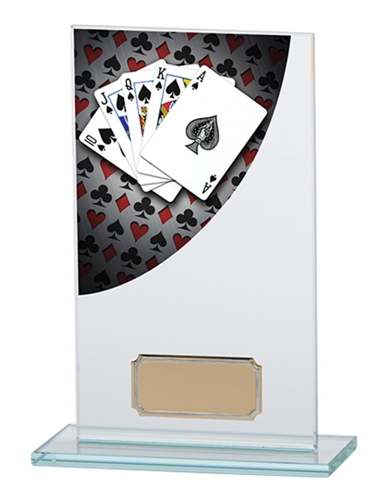 Poker/Cards Premium Glass Plaques