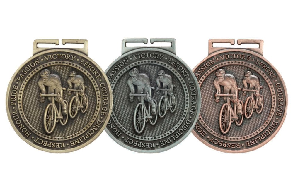 60mm Olympia Cycling Medal and Ribbon