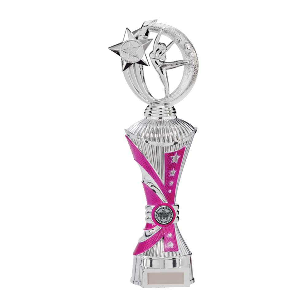 Silver/Pink Renegade All Star Dance Trophies